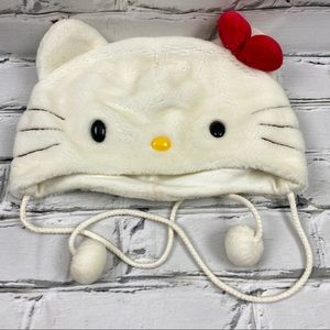 Hello kitty winter toque with ties